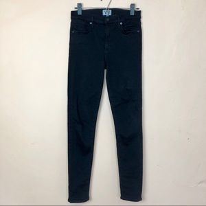 AGOLDE Black Mid Rise Skinny Stretch Jeans